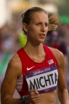 Maria Michta of the U.S. competes in the women's Olympic race walk on Saturday, Aug. 11, 2012 in London. (Anthony L. Solis/Santa Cruz Sentinel)